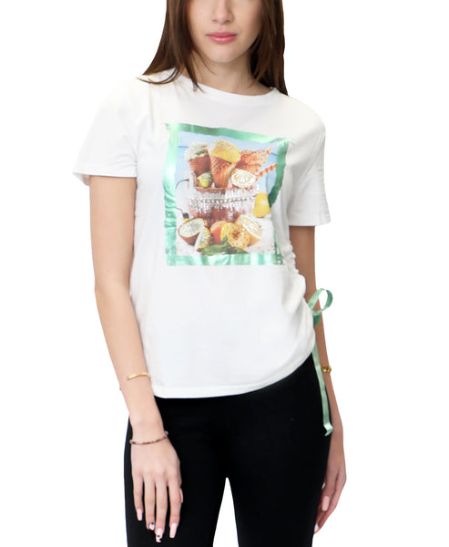Zoom view for Sequin Ice Cream Tee- Green