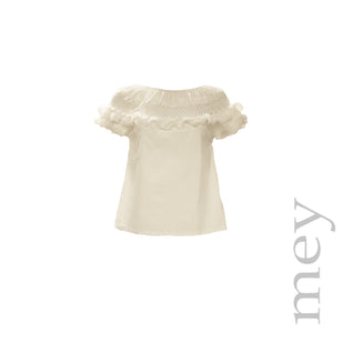 Ballet Neck Ruffle Top