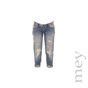 Distressed Paint Splattered Jeans