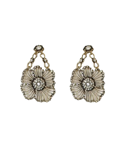 Swarovski Crystal Flower Drop Earrings