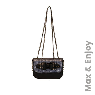 Studded Flap Bag w/ Chain