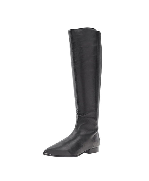 Leather Tall Shaft Flat Boot