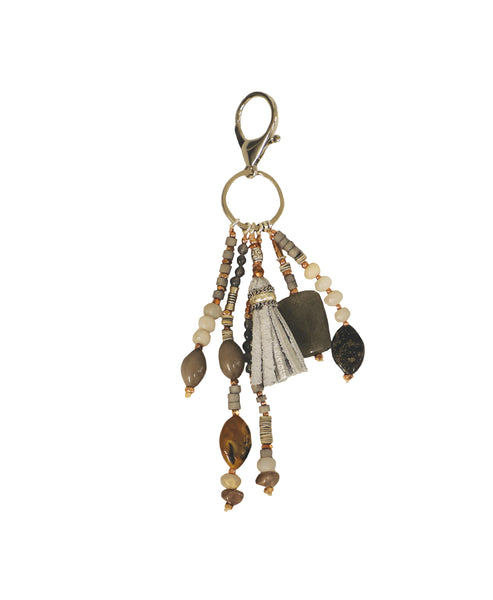 Stone Keychain With Small Fringe