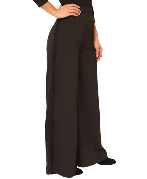 Wide Leg Pant w/ Side Fringe - Fox's