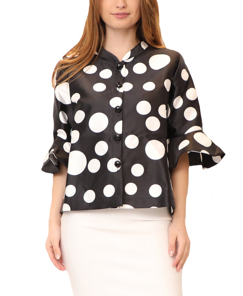 Polka Dot Top w/ Bell Sleeves