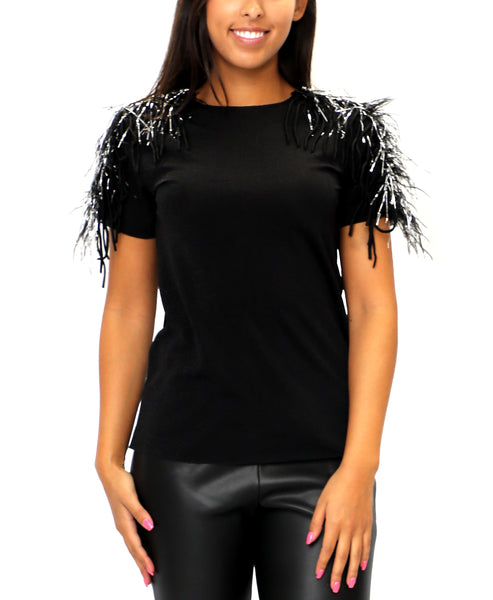 Zoom view for Shimmer Tee w/ Fringe