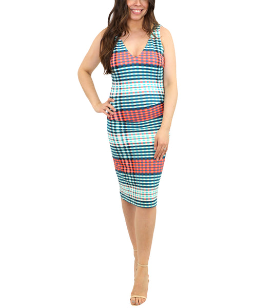 Zoom view for Stripe Ruched Dress