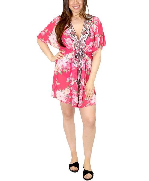 Zoom view for Rose Print Kaftan