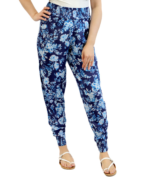 Zoom view for Floral Smocked Pant