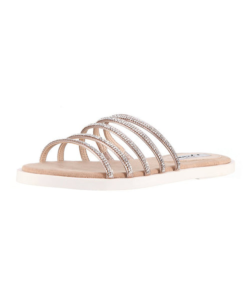 Zoom view for Rhinestone Strappy Slide