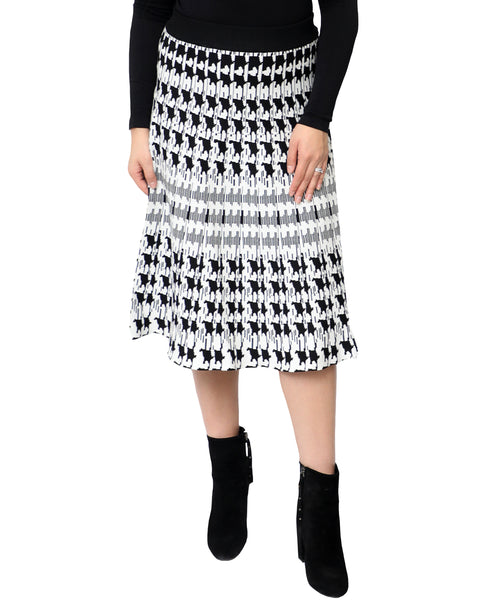 Zoom view for Colorblock Knit Skirt