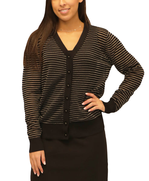 Zoom view for Stripe Cardigan Sweater