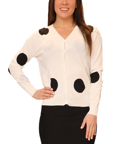 Zoom view for Polka Dot Lightweight Knit Cardigan