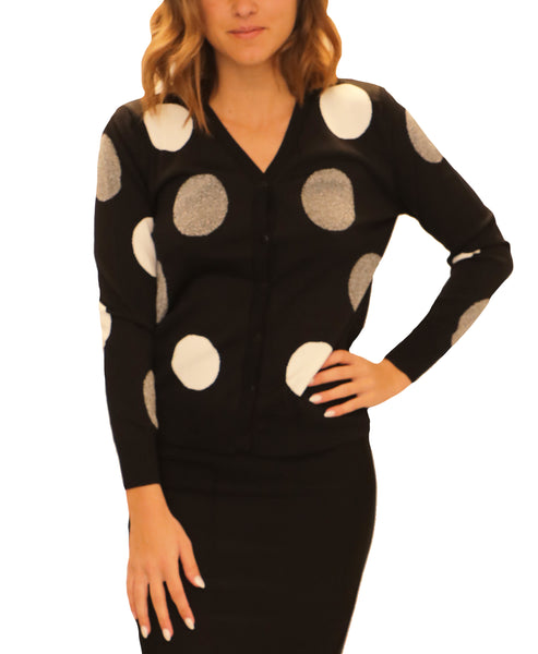 Zoom view for Polka Dot Cardigan