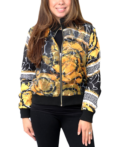 Zoom view for Print Bomber Jacket