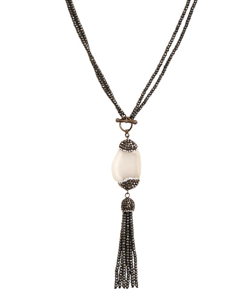 Cats Eye Tassel Pendant