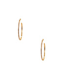 Austrian Crystal Round Hoop Earrings