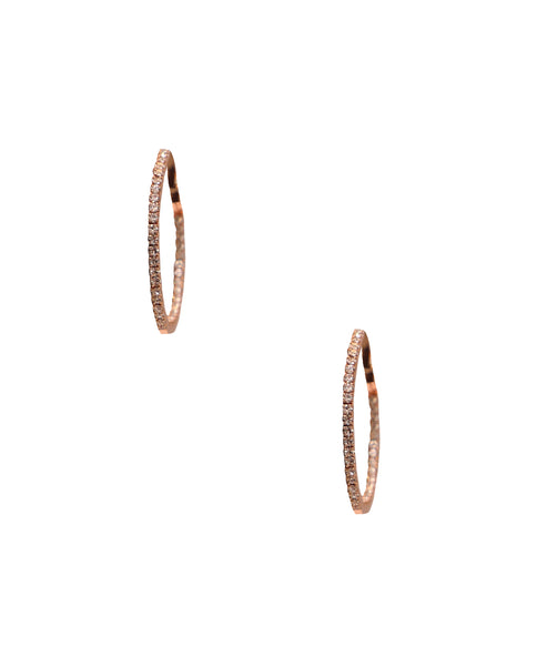 Austrian Crystal Round Hoop Earrings - Fox's