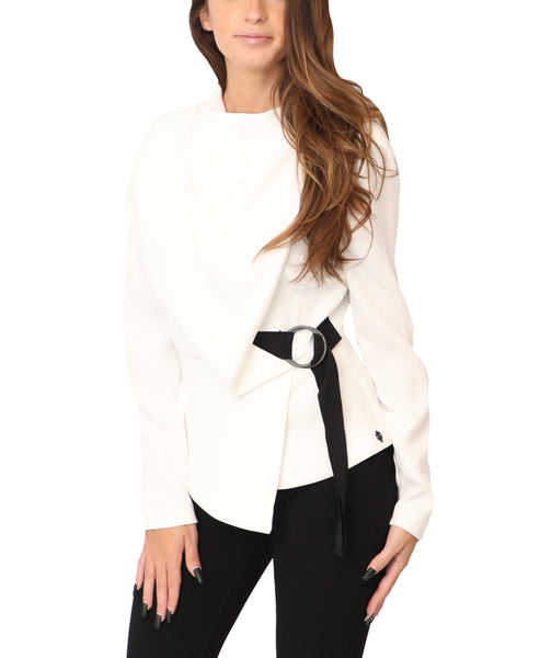 Draped Front Blouse - Fox's
