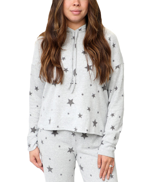 Zoom view for Star Print Pull Over Hoodie A