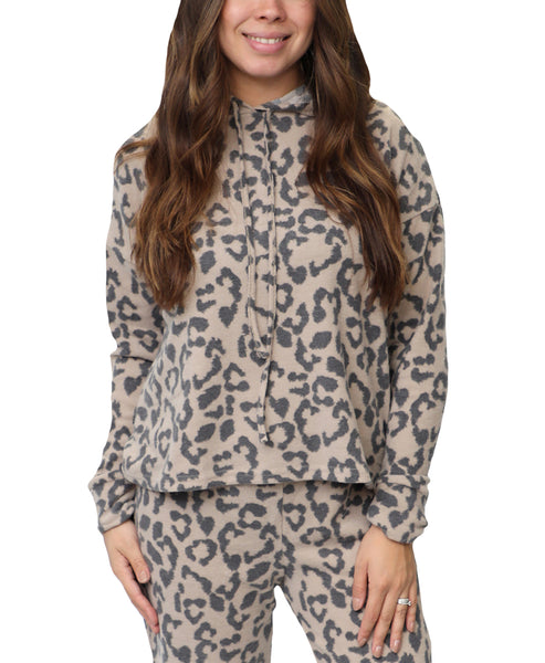 Zoom view for Leopard Print Hoodie A