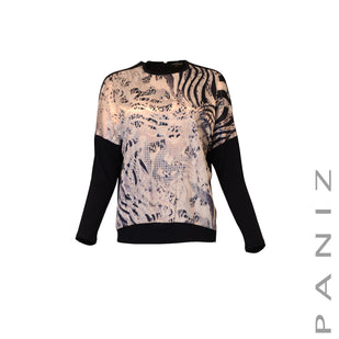 Long Sleeve Dolman Print Top