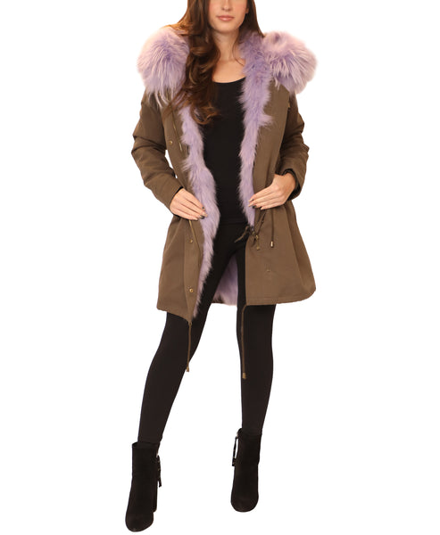 Fur Trimmed Hooded Parka - Fox's