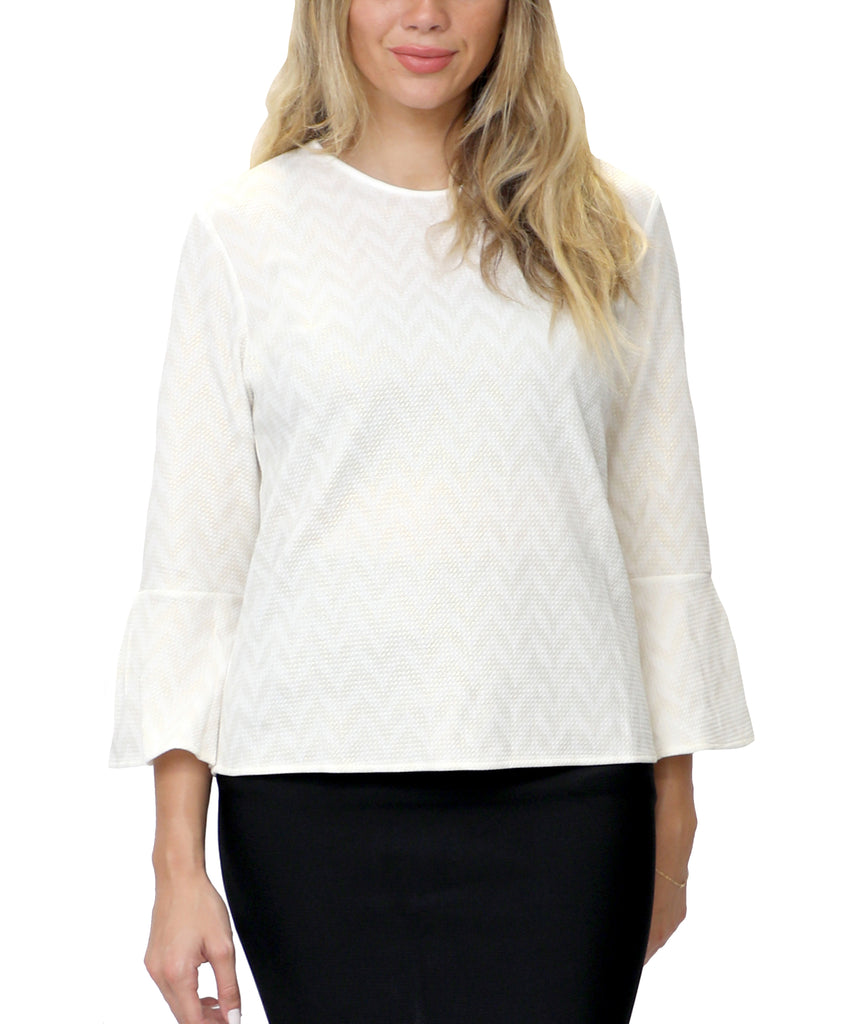 Shimmer Bell Sleeve Top
