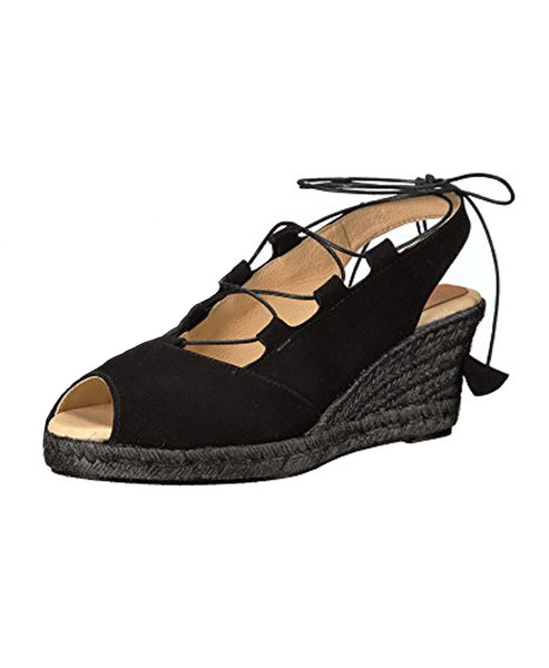 Lace Up Espadrille Wedge Sandal