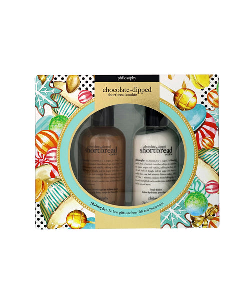 Zoom view for Philosophy Chocolate Dipped Shortbread Cookie Bath & Body Gift Set A