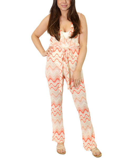 Zoom view for Chevron Print Jumpsuit Cover Up