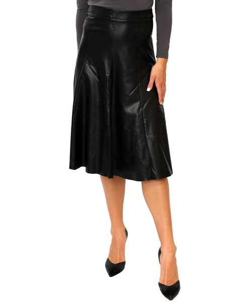 Zoom view for Faux Leather Trumpet Skirt