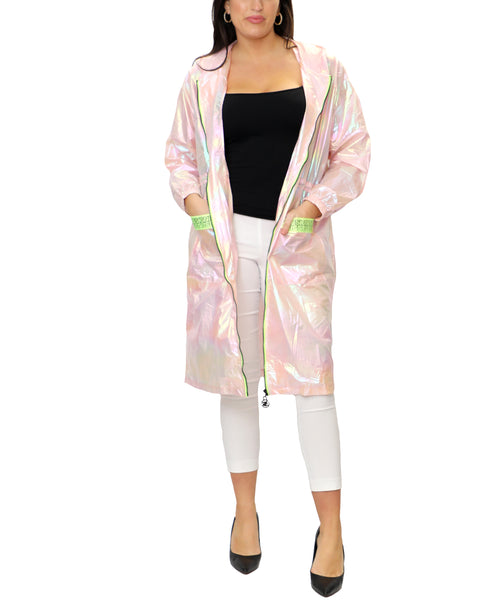 Zoom view for Iridescent Lightweight Long Jacket