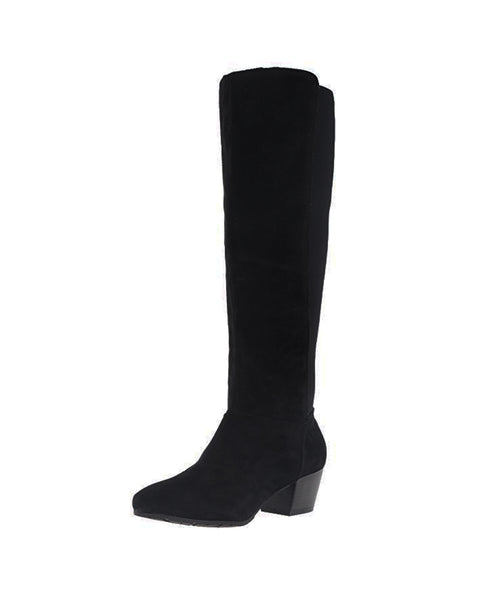 Tall Shaft Suede & Stretch Boot