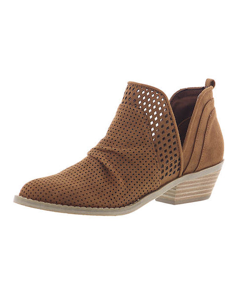 Western Inspired Perforated Bootie