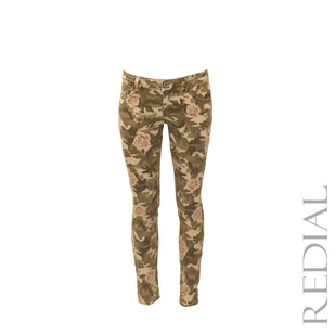 Camouflage & Rose Skinny Jean