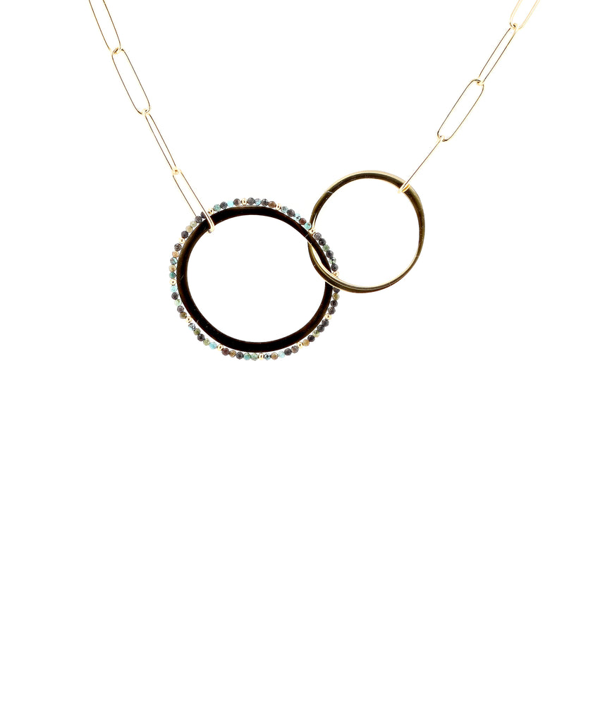 Collar Necklace w/ Open Disks