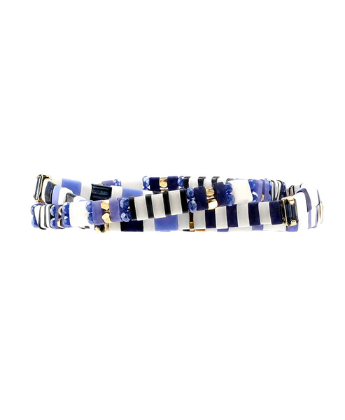 Zoom view for Tile Beaded Set of 3 Stretch Bracelets