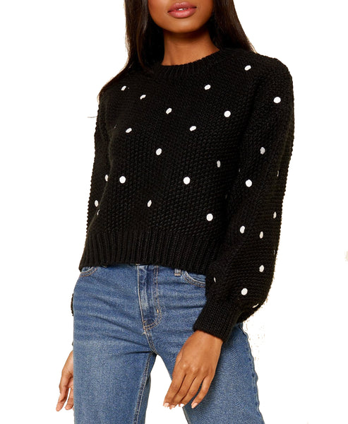 Zoom view for Embroidered Dot Sweater