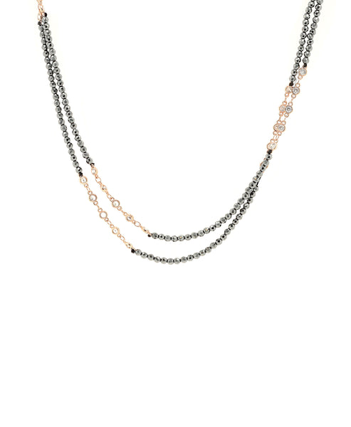 "Crystal Necklace w/ CZ's ""By the Yard"" - Fox's"