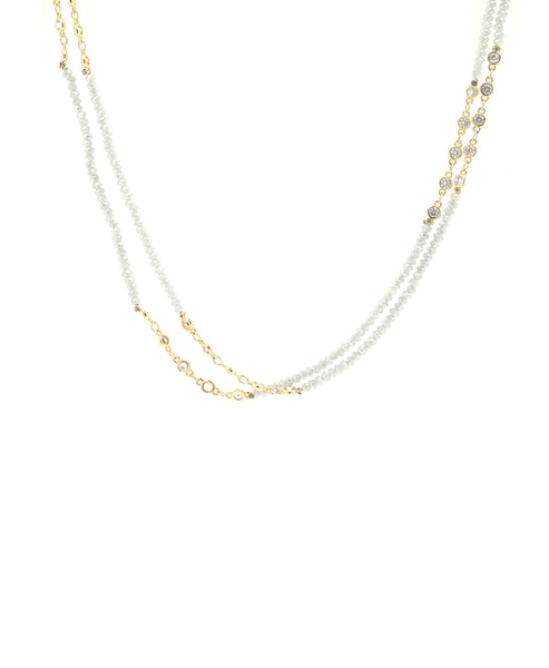 "Zoom view for Crystal Necklace w/ CZ's ""By the Yard"""