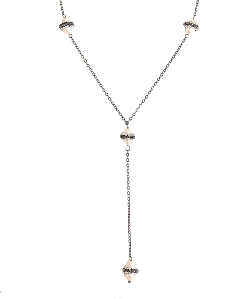 Zoom view for Fresh Water Pearl Necklace w/ Crystals