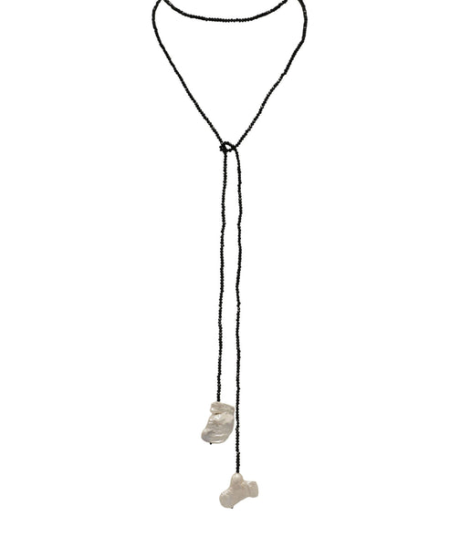 Fresh Water Pearl Lariat Necklace - Fox's