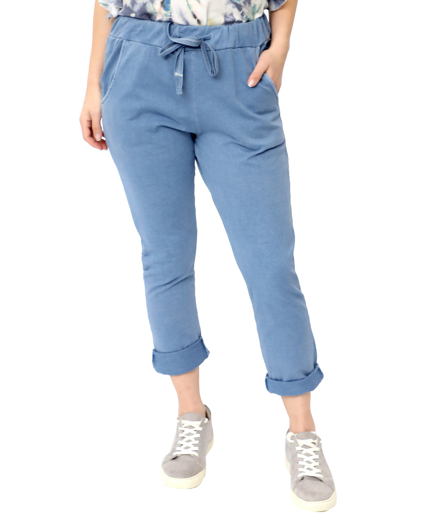 Soft Cotton Pull On Pants