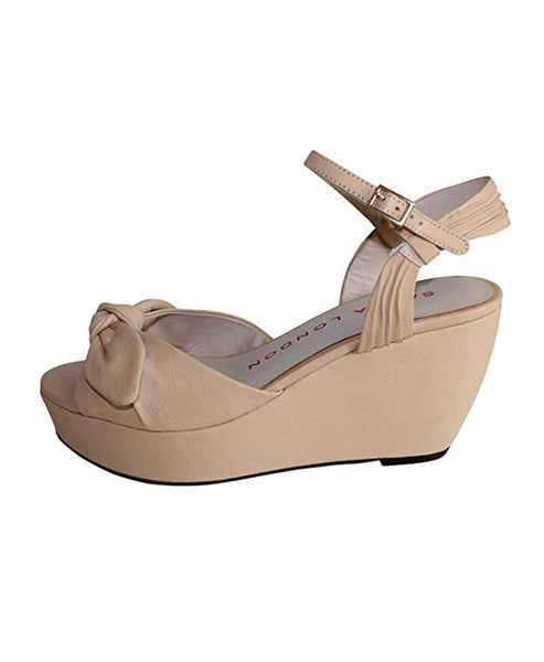 Zoom view for Leather Platform Wedge Sandal