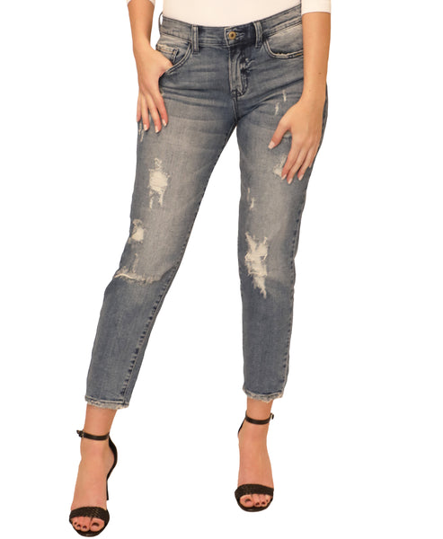 Zoom view for Boyfriend Distressed Jeans - Fox's