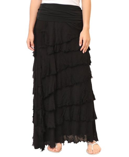 Zoom view for Tiered Maxi Skirt