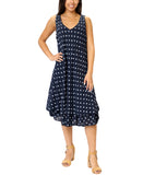 Sleeveless Polka Dot Layered Dress