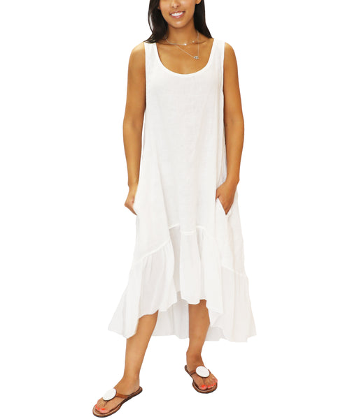 Zoom view for Hi-Lo Linen Dress