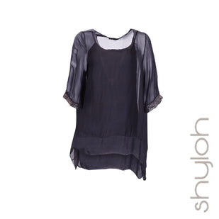 Silk Asymmetrical Tunic w/ Matching Tank